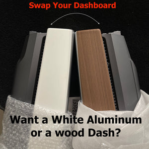 Model 3 & Y Swap Out Your Dashboard for Wood or White Aluminum- $299