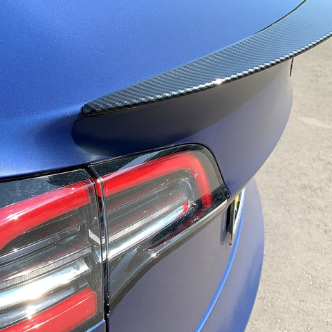 Model 3 Jupiter Spoiler ABS Plastic -Carbon Fiber Coated, Only $189