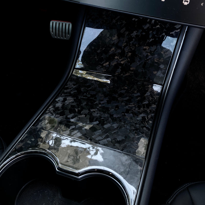 Model 3 & Y Forged Carbon Fiber Center Console Cover from $229