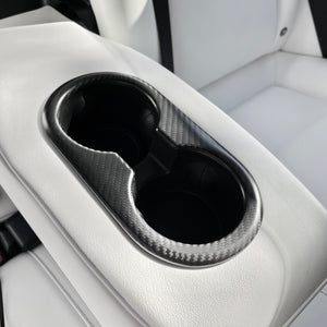 Model 3 Backseat Cup Holder Cover - Carbon Fiber or Carbon Printed From $25