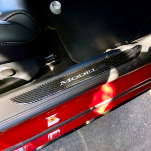 Model S Carbon Fiber Molded Front Door Sill Covers ($32 with 20% off)