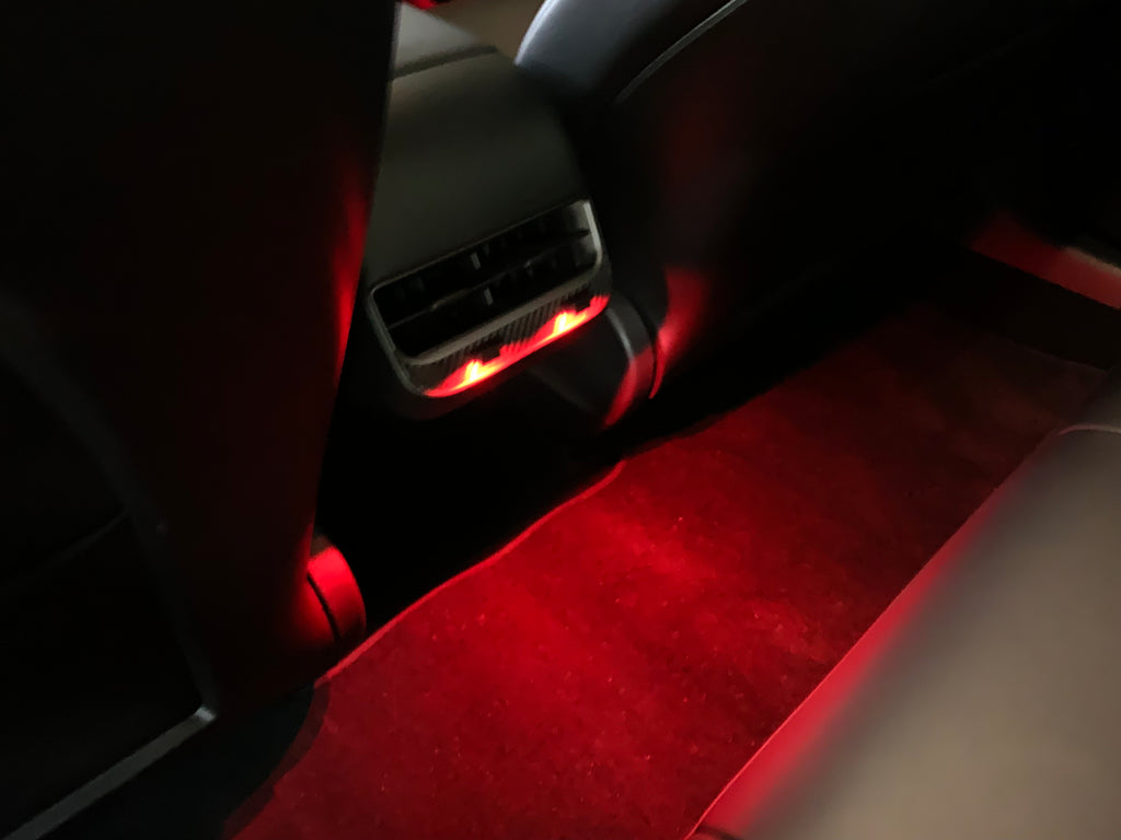 Ambient LED Backseat Lighting Kit For Model 3, S & X (From $15 with 20% discount)