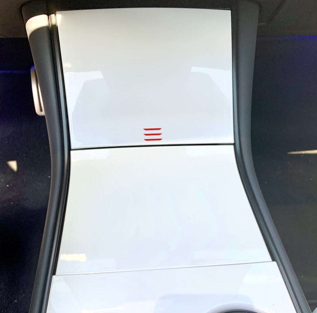 Model 3 Center Console White Pearl Molded Plastic - $79