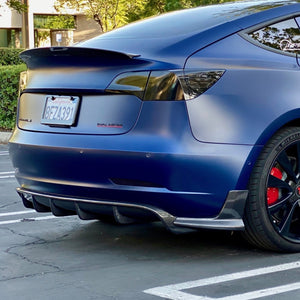 Model 3 Razzo Aero Rear Diffuser - Real Carbon Fiber Rear - $699