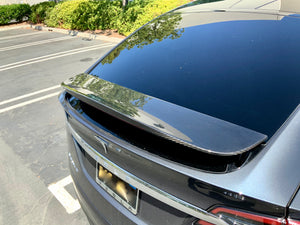 Model X Carbon Fiber Wing Spoiler Cap Only $ 229
