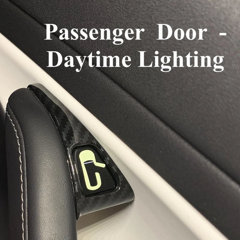 Model 3 Unlock Door Switch Decals -Night Glowing or White (Only $9 w/ 20% OFF)