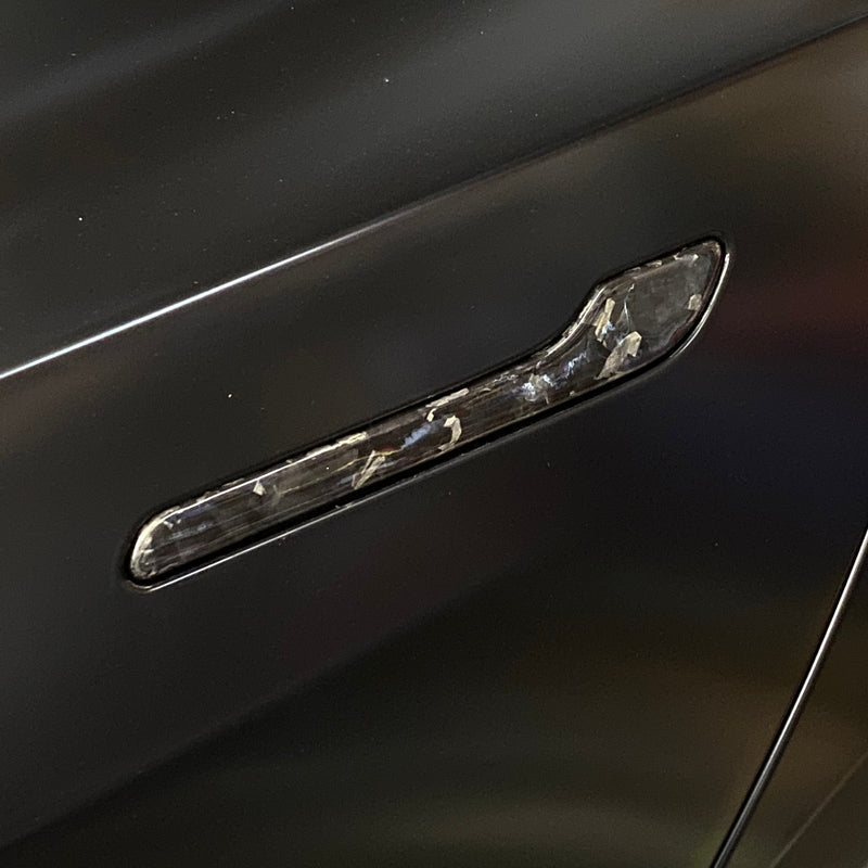 Model 3 Forged Carbon Fiber Molded Door Handle Caps $139