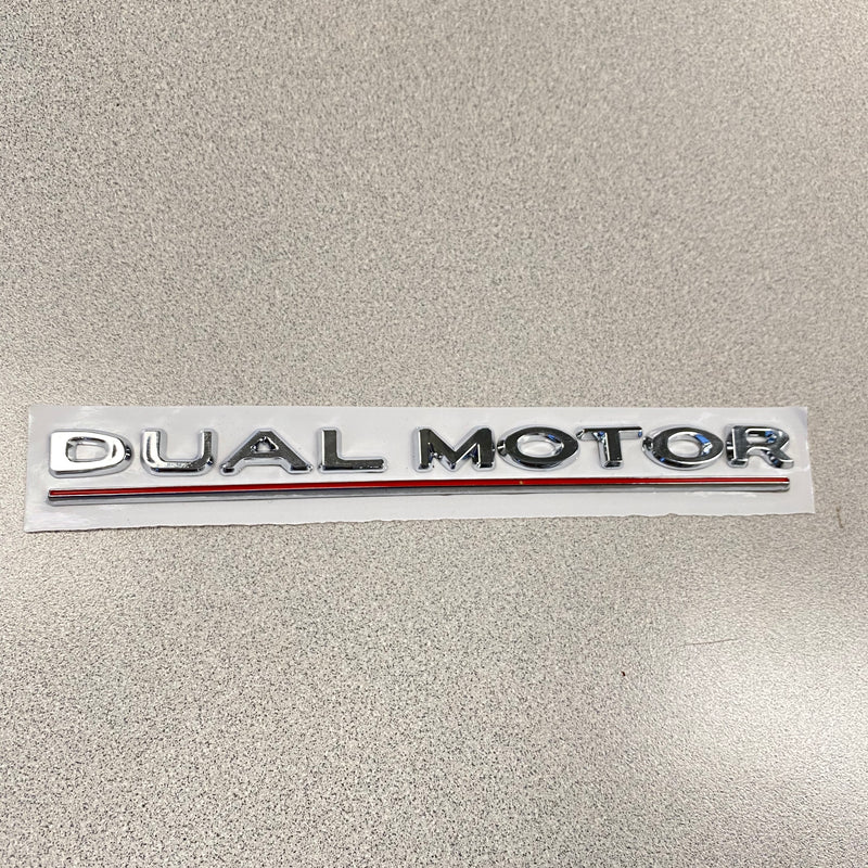 DUAL MOTOR Badges - Black or Chrome With Stripe (Only $29 with 20% Off)