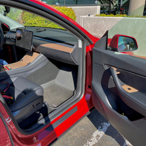 "Model 3 & Y- Real ""Open-Pore"" Wood Veneer Door Switch Overlays $179"