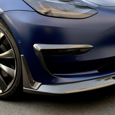 Model 3 Molded Carbon Fiber Front Door Sill Covers ($32 with 20% off)