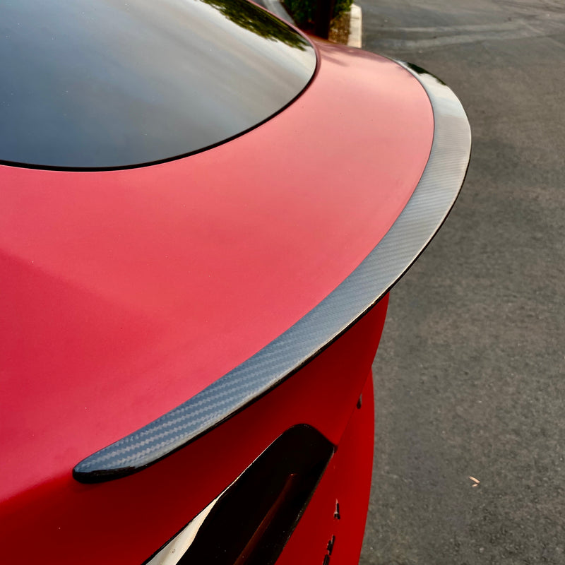 Model Y Performance Carbon Fiber Molded Spoiler, From $299