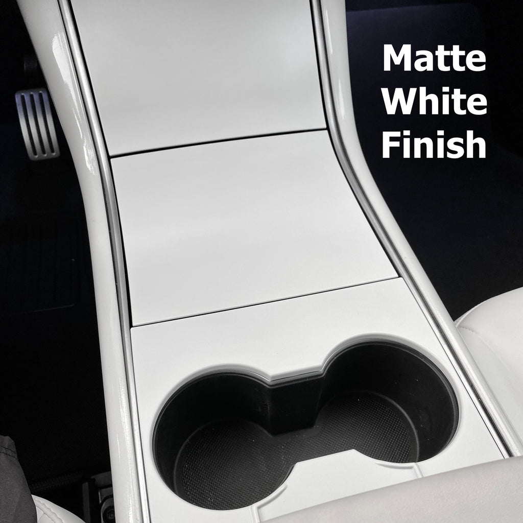 Model 3 & Y Center Console Plastic Cover - Matte White (4 Piece Gen.2) - $79