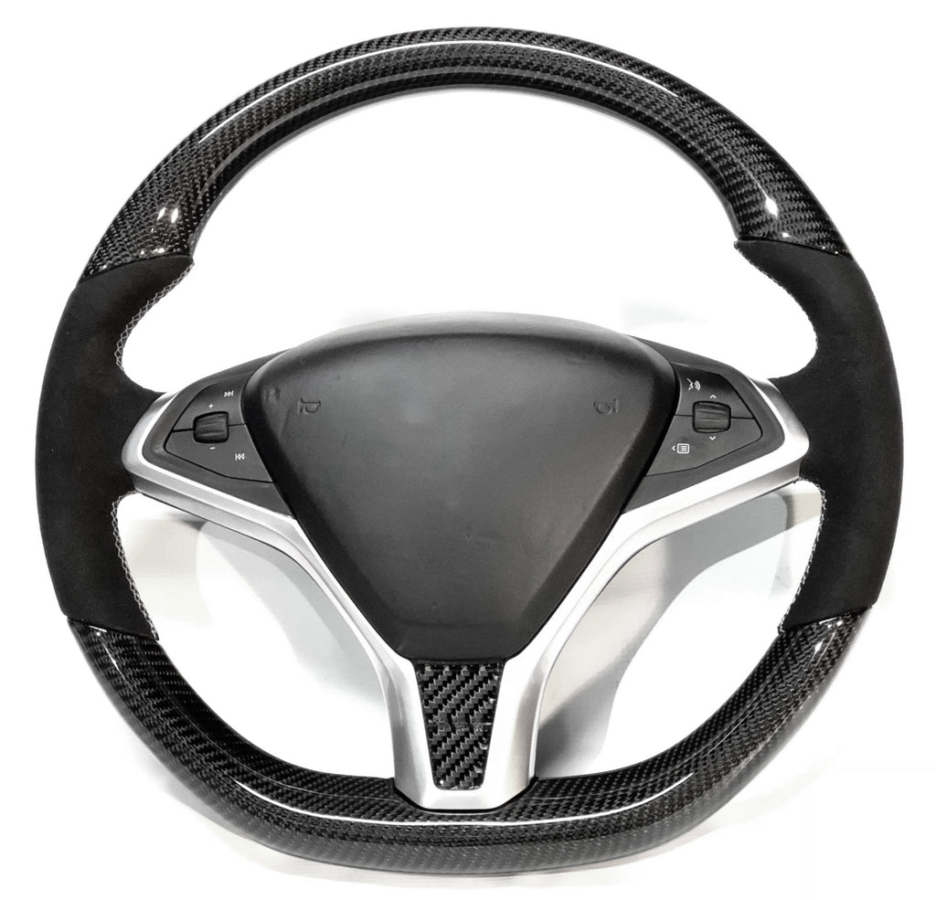 Model S & X Carbon Fiber Steering Wheel ( $995 ) Alcantara