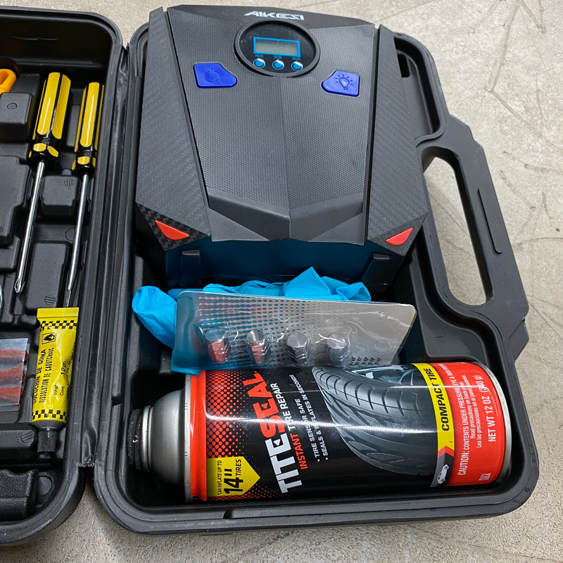 TITESEAL Flat Tire Repair Kit, and Tool Kit, & Compressor - $69 with 20% Off