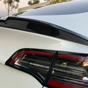 Model 3 Jupiter U-Style ABS Spoiler Glossy Black or Glossy CF Coated, Only $169