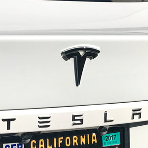 "TESLA Front & Rear Tesla ""T"" Decals $10 a Pair"