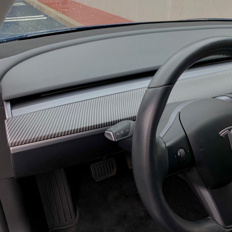 Model 3 & Y Dashboard Cap ABS - Matte Carbon Fiber Coated $ 129
