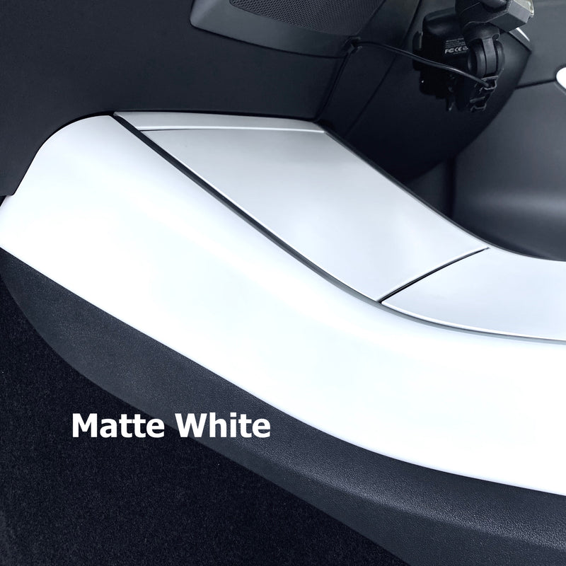 Model 3 & Y Center Console Side Panel Caps - White, Matte Black, Carbon Fiber $149