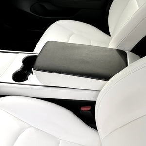 Model 3 Leather Armrest Padded Cover -Black, White, or Both - $39 with 20% OFF