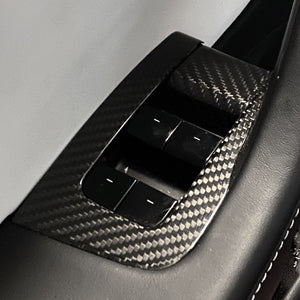 Model 3 Carbon Fiber Molded Window & Door Switch Covers-  $189