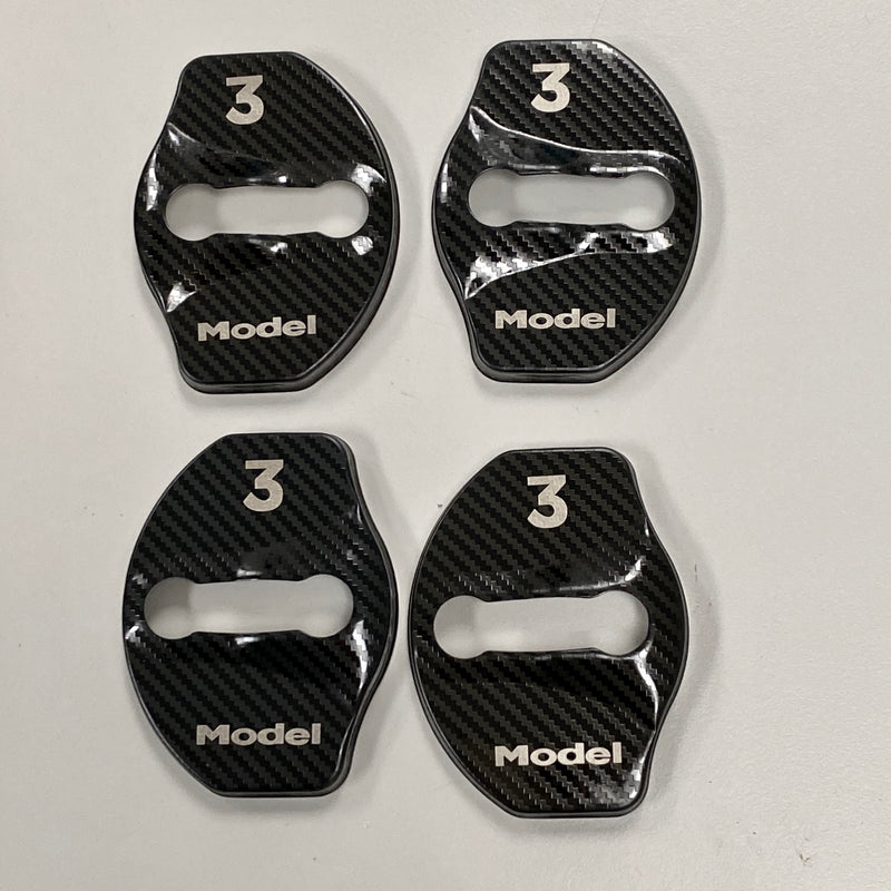 Model 3 & Y Door Latch Covers CF Coated (Set of 4 -Only $29 with 20% Off)
