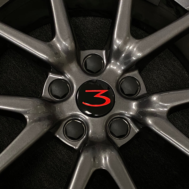 "Tesla Model 3 18"" Wheel Center Caps & Lug Nut Covers - $29 with 20% Off"