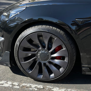 Model 3 & Y Überturbine Real Carbon Fiber Molded Center Hub Caps - $249