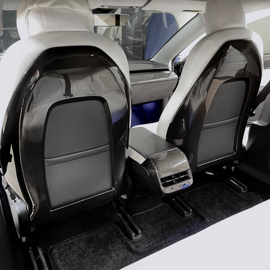 Model 3 & Y Real Carbon Fiber Molded Seat Back Covers (1 Pair) - $595