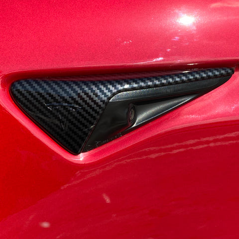 Model S & X Carbon Fiber Printed Steering Wheel Bezel Cover $29