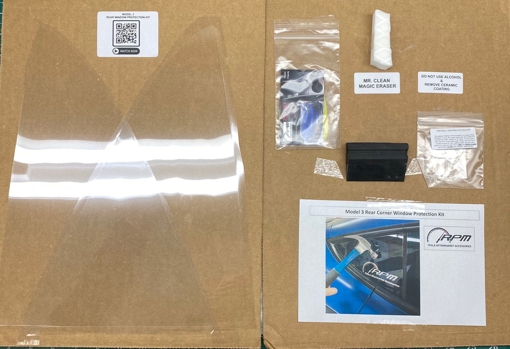 Model 3 Rear Corner Window Protector Kit - $39 with 20% Off