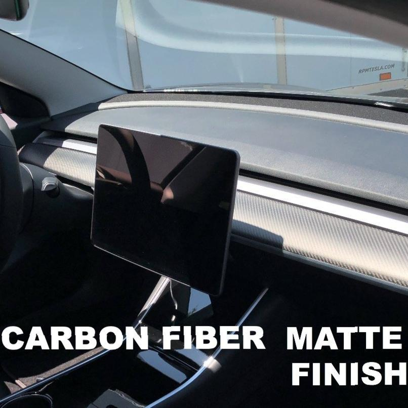 Model 3 Dashboard Replacements - Carbon Fiber, Alcantara, Piano Black, White - From $295