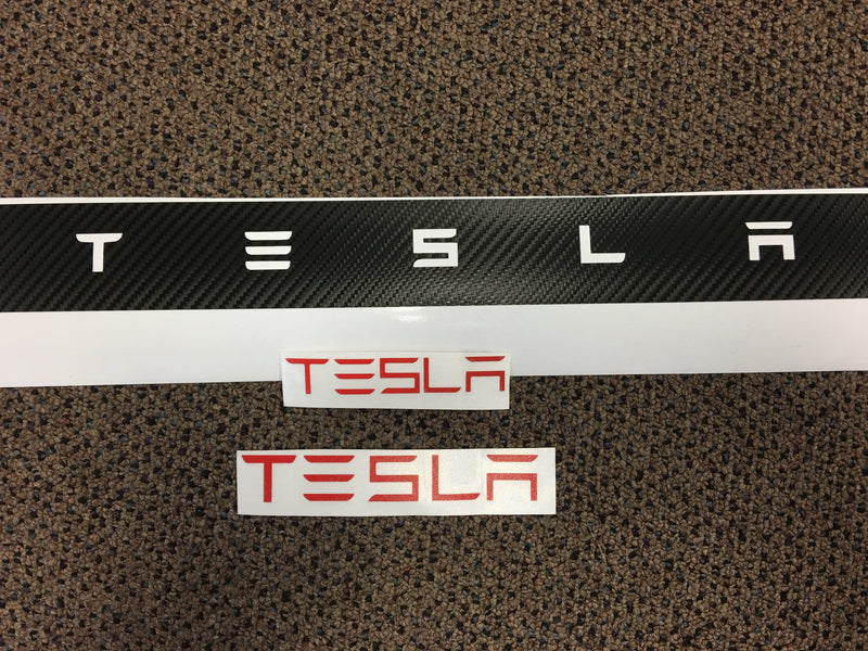 Model S & X Tailgate Applique TESLA Letters - $12 with 20% OFF