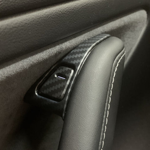 Model Y Molded Carbon Fiber Molded Door Sill Covers - $29 to $59