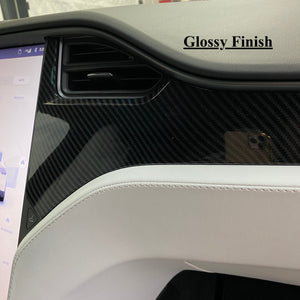 Model S & X Dashboard & Console Carbon Fiber Conversion Kit - $279