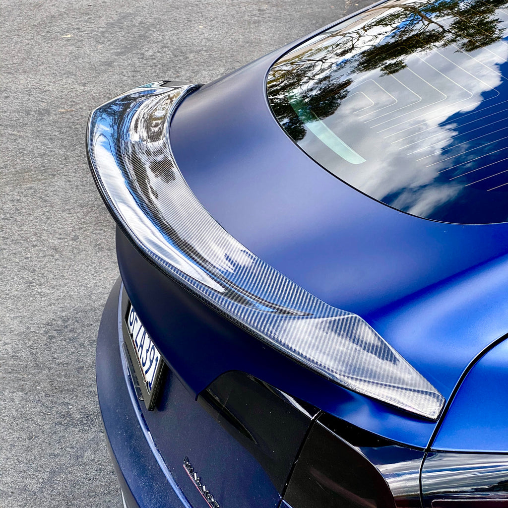Model 3 Jupiter V-Style Spoiler Molded Carbon Fiber Only $299
