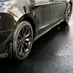 Model S Mud Flaps Screwless Installation (Set of 4- $39 with 20% Off)