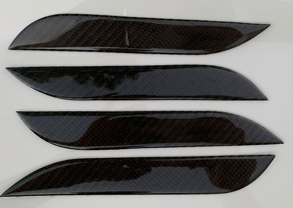 Model S Carbon Fiber Door Handle Overlay Covers from $39