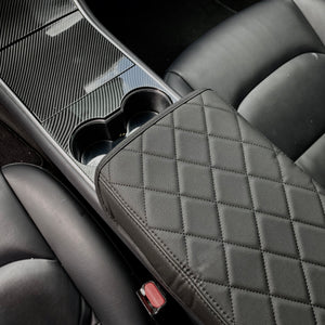 Model 3 & Y Padded Leather Armrest Cover, Choice of 5 - $39 with 20% OFF