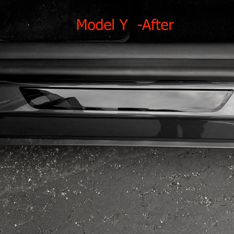 Model 3 & Y Clear Front Door Sill Covers - (1 Pair $28 with 20% off)