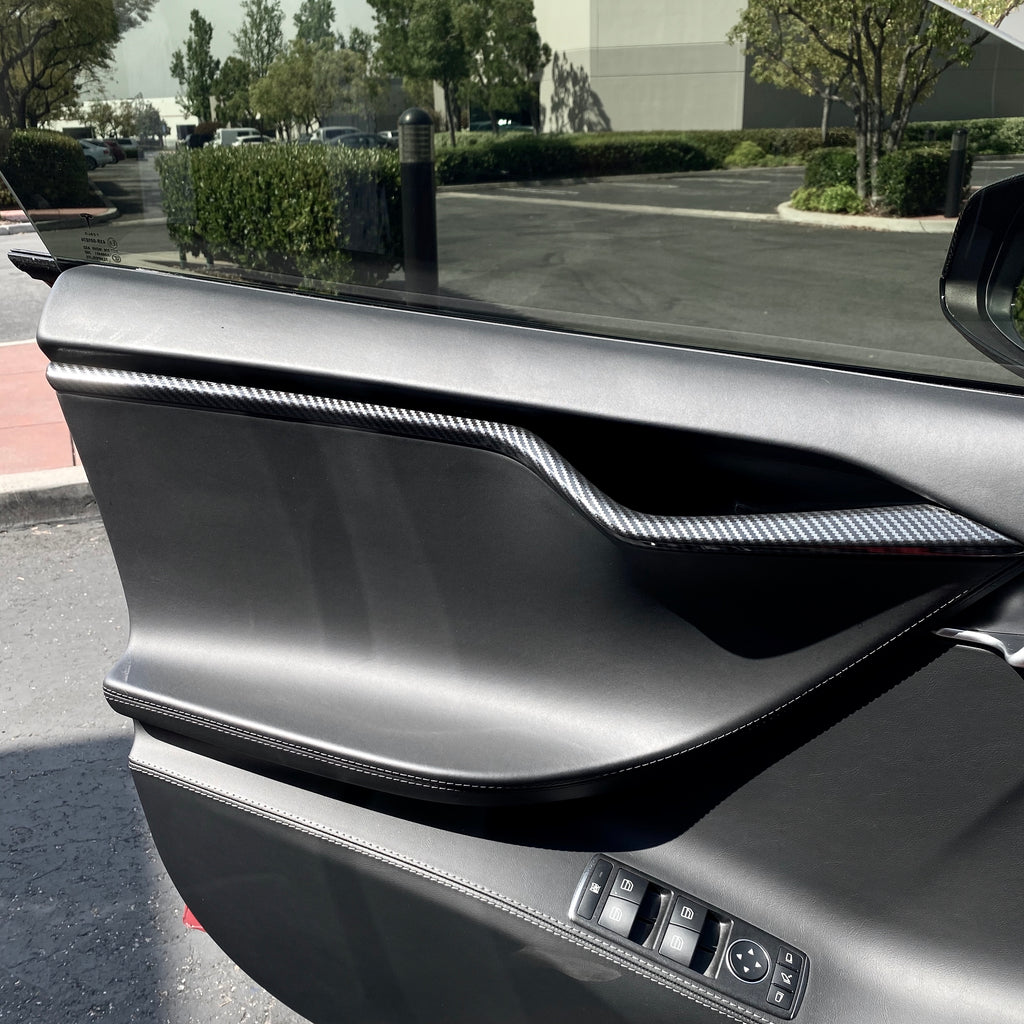 Model S Interior Aluminum Carbon Fiber Coated Conversion Kit - $189