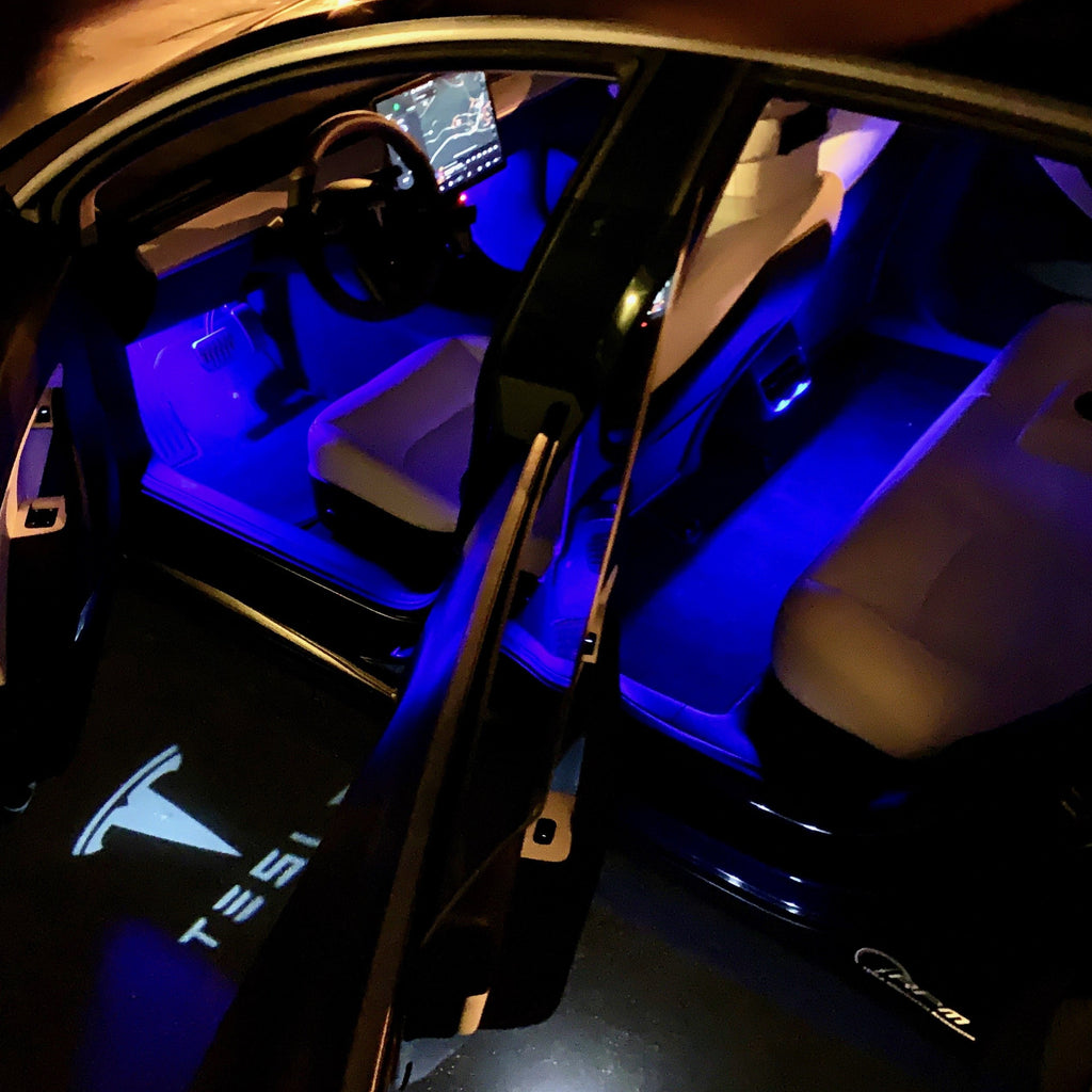 Tesla Model 3 Neon Light USB Ambient LED Colored Backseat Lighting 2 PCS