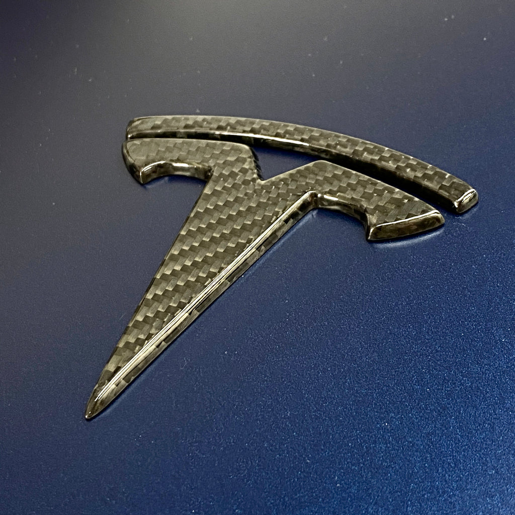 Model 3 Carbon Fiber Molded T Logo Caps $99 (1 Pair)