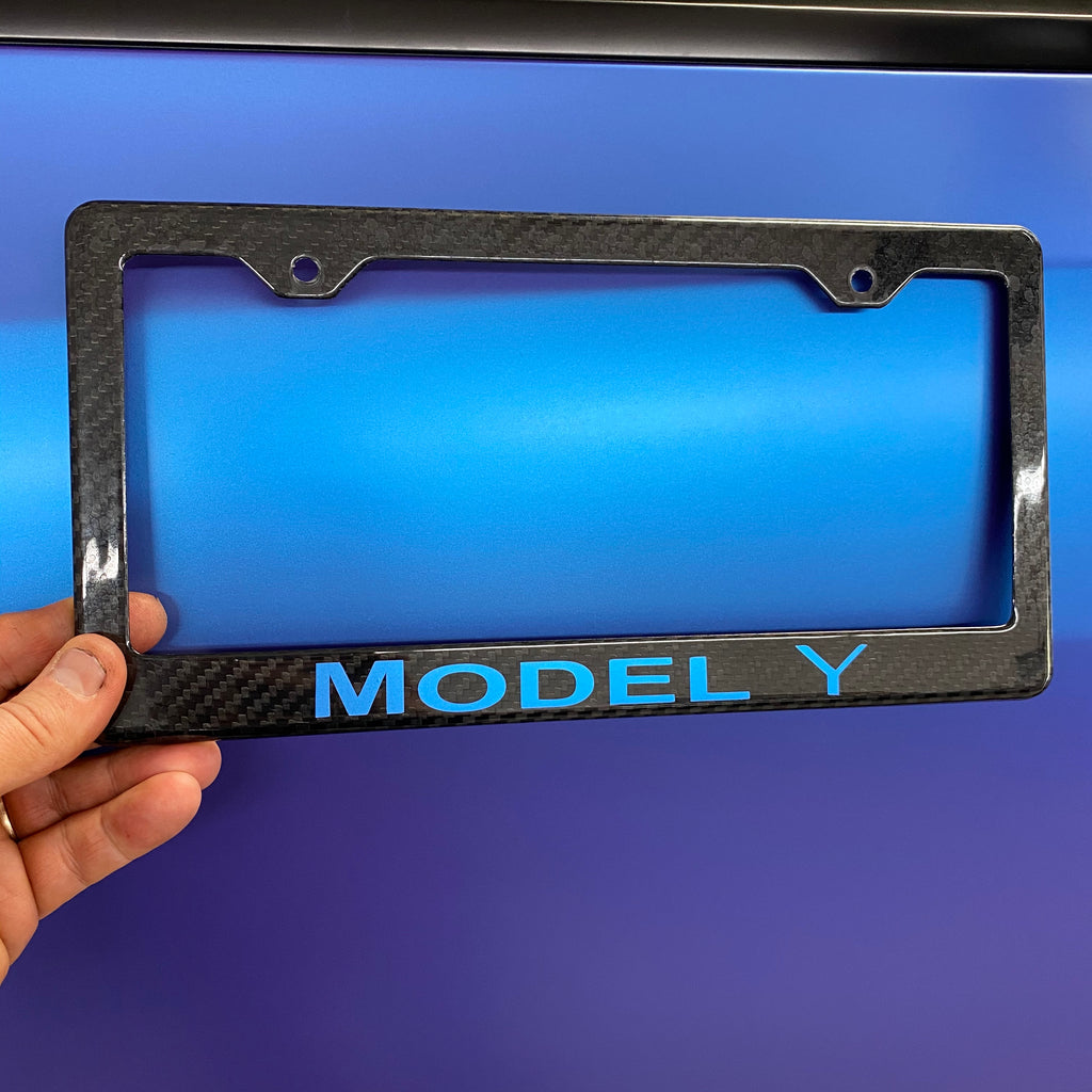 Model Y Carbon Fiber License Frame - Only $29 with 20% Off)