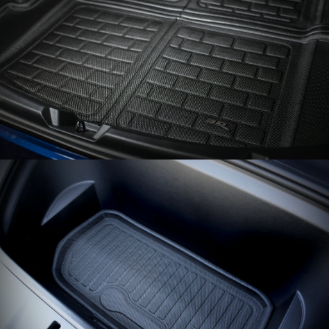 Model Y MAXpider 3D KAGU Trunk & Frunk Floor Mats $91 & $109