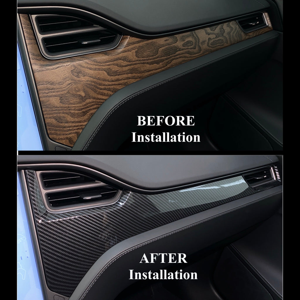 Model S & X Dashboard & Console Carbon Fiber Conversion Kit - From $229