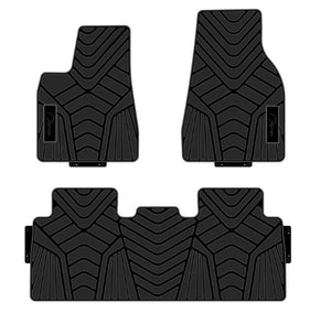 Model X All-Weather Floor Mats 3 Pieces (2 Front Seat & 1 Back Seat )