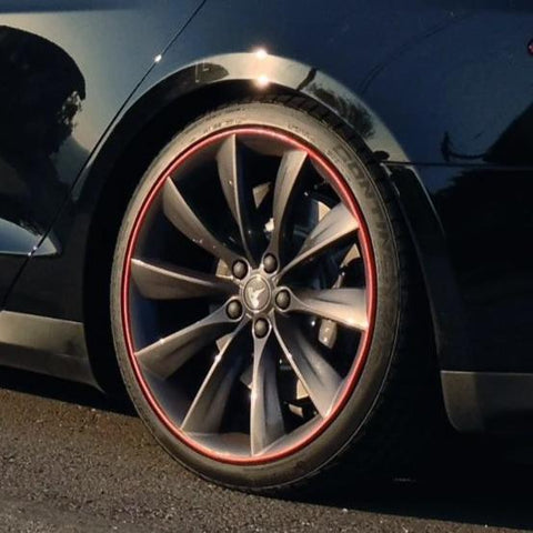 Model S, X & 3 Caliper Covers Vinyl Letters (From $279 w/ 20% off)