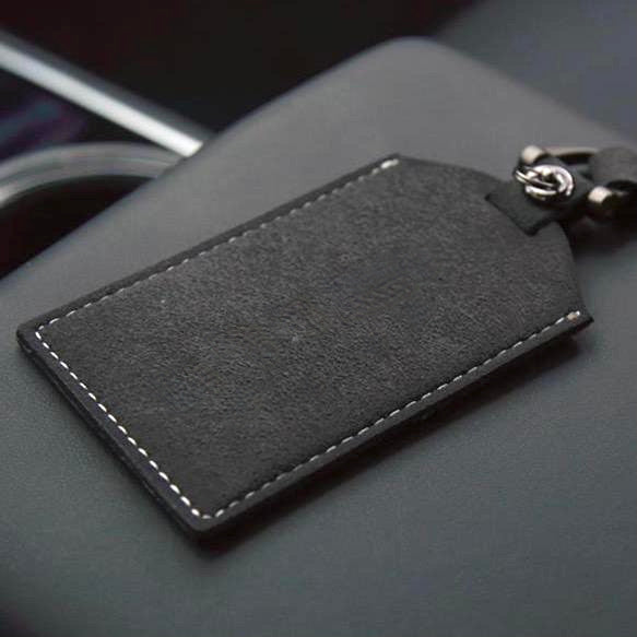 Model 3 & Y Alcantara Key Card Holder / Key Chain (Only $19 with 20% Off)