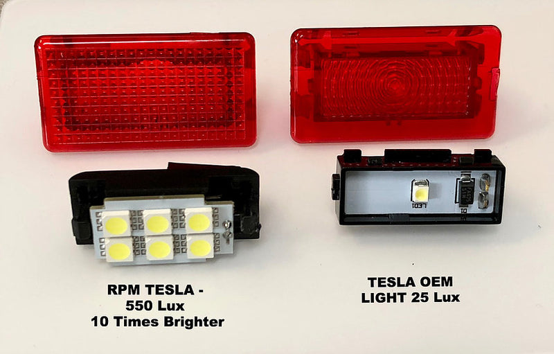 Model S & X - RED Door LED Lights  4 Pcs. ($44 w/20% OFF)