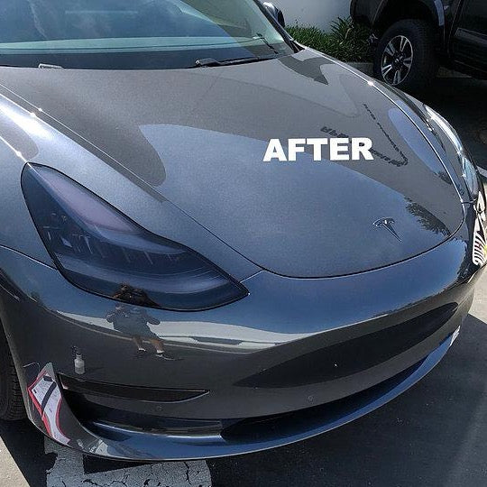 Model 3 Headlight Protection Film Clear Or Smoked Set Of 4 Rpm Tesla